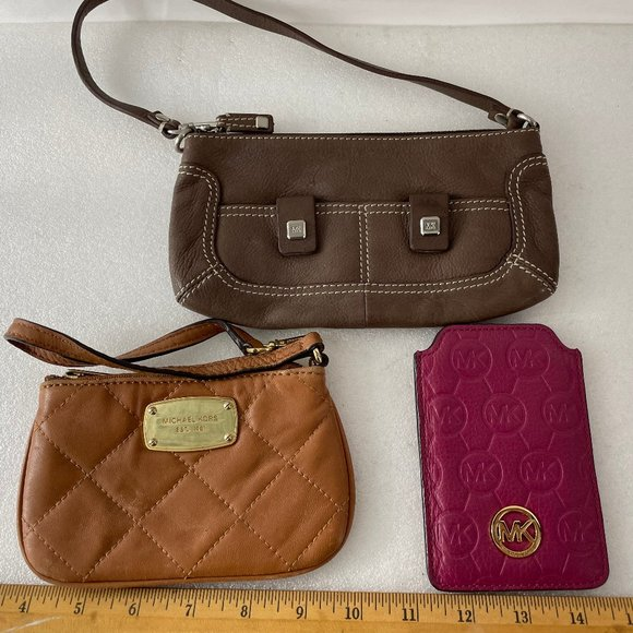 Michael Kors Bundle of 3 Small Leather Accessories